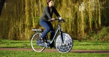 elektrische fiets op zonnecellen
