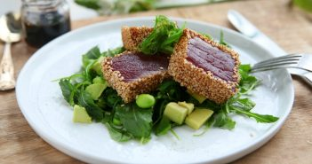 Tonijn salade zeewier edamame gezonde lunch