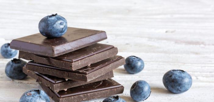 Blauwe bessen en pure chocolade zorgen ervoor dat je er jong uit blijft zien